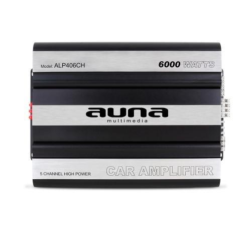Auna 800W RMS, 6000 Watt max. Auto Car Endstufe 5/4/3/2 Kanal Aluminium Body