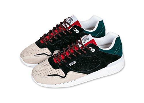 Djinns - Zapatillas de baloncesto para hombre negro negro black/red/sand