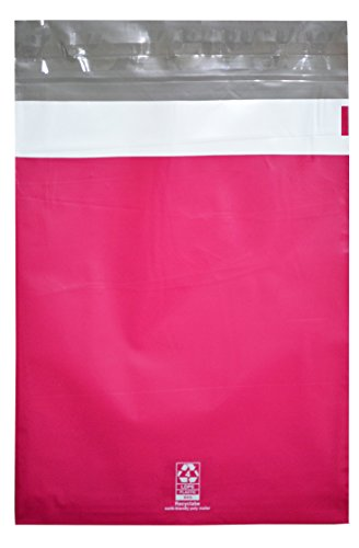 [300 Piece Combo Pack- Variety of 3 Different Sizes ( 6x9, 7.5x10.5, 9x12 ) 100 Each - Self Seal Hot Pink Poly Mailers Shipping Mailing Plastic Envelopes Bags 2 Mil Thick, Strong Glue,] (Recycled Material Costume)