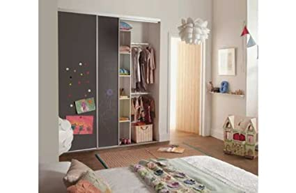 check out 63c6f 969bf Kids Chalkboard Sliding Wardrobe Door Basix Kit.: Amazon.co ...