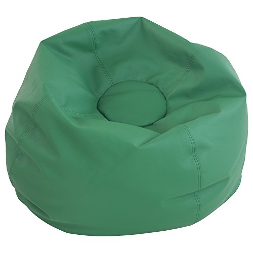 Green Vinyl Bean Bag (ECR4Kids Standard Bean Bag Chair, Green (35