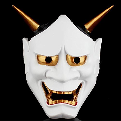 JUNGSON--Vintage Japanese Buddhist Evil Oni Noh Hannya Mask Halloween Costume Horror (Awesome Ghost Costume)