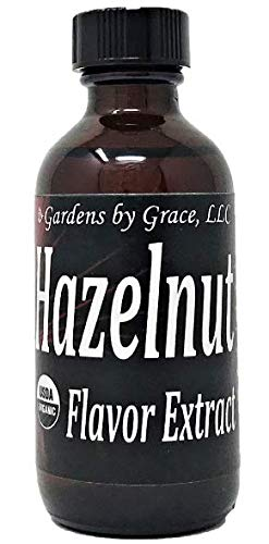 Organic Flavor Extract Hazelnut | Use in Gourmet Snacks, Candy, Beverages, Baking, Ice Cream, Frosting, Syrup and More | GMO-Free, Vegan, Gluten-Free, 2 oz