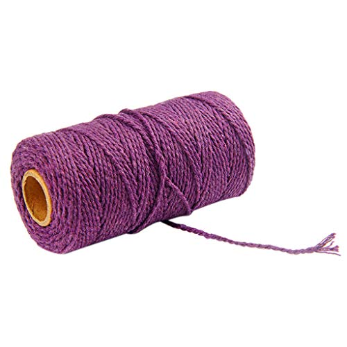 300 Feet Cotton Kitchen Twine, Cooking String, Bakers Twines for Arts Crafts and Gift Wrapping salaheiyodd (Purple)