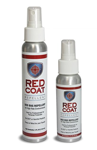 Prevent Bed Bug Infestations with RED COAT Bed Bug Repellent Spray (2oz Bottle), Twin Travel Pack (Net 4oz) For Travel (Bug Travel Bed For Spray)