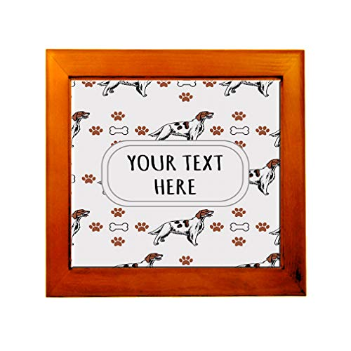 Ceramic Tile in Wood Frame Custom Irish Red and White Setter Dog Pattern B Adults (Irish Red And White Setter For Sale)