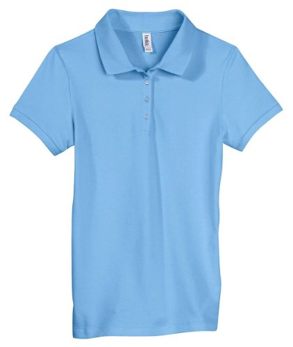 Ladies' Mini Pique Short Sleeve Sport Shirt, Color: Ocean Blue, Size: XX-Large