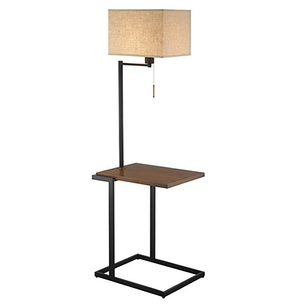 MWNV フロアランプ - オフィス用モダンLEDランプ、高さ調節可能ポール、読書灯用スタンドライト、アンティーク真鍮/黒 -フロアスタンドランプ B07RGR214M