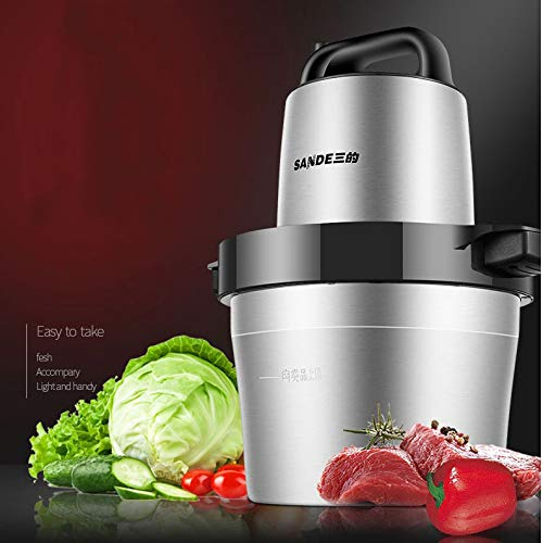 TOPCHANCES 220V Stainless Steel Electric Meat Grinder Crushed Garlic Pepper Cutter 6L by TOPCHANCES (Image #4)