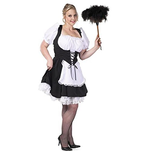 Women's Plus Size Chambermaid Costume (Size: 2X-Large 22-24) (Chambermaid Costume)