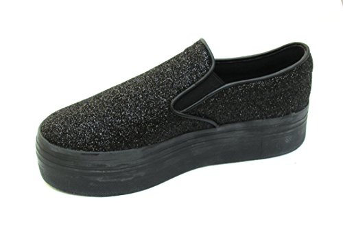 Jeffrey Campbell slip on glitter black