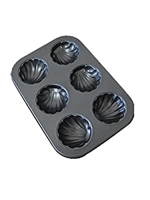 Non-Stick Madeleine Pans,Cake Mold 6-cup