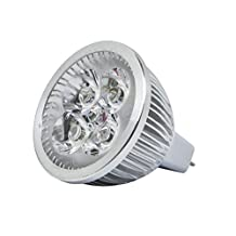 Monoprice6-Watt (40W Equivalent) MR 16 GU 5.3 LED Bulb, 400 Lumens, Warm/ Soft (3000K) - Non-Dimmable