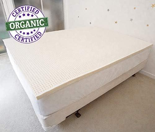 PureTree 100 Organic Natural Latex Mattress Topper – GOLS Certified 2 Full, Soft