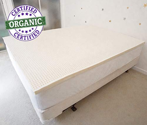 PureTree 100% Organic Natural Latex Mattress Topper – GOLS Certified 2″ (Full, Soft)