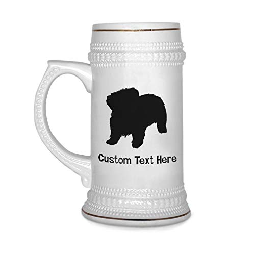 - Custom Beer Mug Maltese Silhouette Ceramic Drinking Glasses Beer Gifts White 18 OZ Personalized Text Here