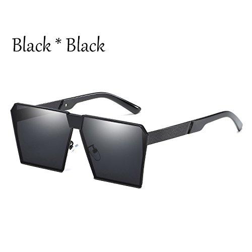Unas Hombre Silver 17 TIANLIANG04 Sol Mujer Uv356 De Black Cuadradas Gafas Gafas Vintage Estilos De Enormes Damas C2 Tonos Gray Sol G Silver C7 qXqfAdw