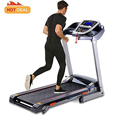 3.0 HP Fitness Folding Electric Support Motorized Power Jogging Treadmill Walking Running Machine Incline Trainer Equipment [US Stock] (3.0 HP - Gray)