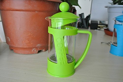 French Press Coffee Plungers 350ml Carefully Fill Beaker To The Top Metal Band With Boiling Water Ready Serve