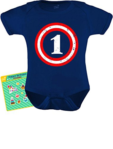 Captain 1st Birthday Gift for One Year old Infant Baby Bodysuit 18M Navy (1st Year Birthday Party Ideas For A Boy)
