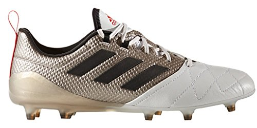 adidas Womens Ace 17.1 FG Soccer Cleats, 7.5 B(M) US, Footwear White/Core Black/Core Red by adidas