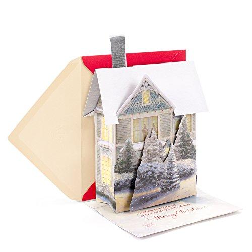 Hallmark Christmas Greeting Card with Light and Song Card (Displayable Dimensional Thomas Kinkade House) Photo #3