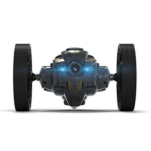 OXOQO RC Bounce Car, 2.4GHz WiFi Remote Control Jumping Car w/LED Light, Camera and Music, USB Rechargeable Sumo Car 360 Degree Rotation, 28in Jump Height