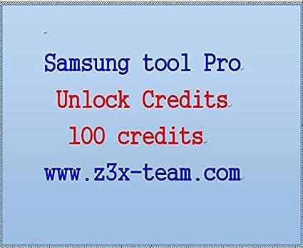 Amazon com: z3x Samsung Tool Pro Unlock Credits 100 Credits