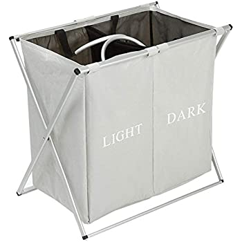 Amazon Com Sharewin Double Laundry Hamper With Waterproof