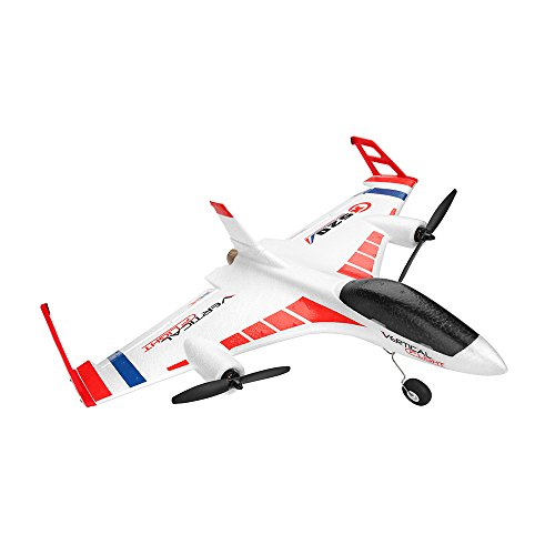 ASfairy-Toy XK X520 2.4G 6CH 3D/6G Airplane Vertical Takeoff Outdoor 6G Leveling Mode 3D Stunt Mode Delta Wing RC Foam Glider Remote Control Plane with Big Remote Control