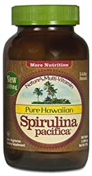 Pure Hawaiian Spirulina - 1000mg tablets 180 count – Boosts Energy and Supports Immunity – Vegan, Non GMO – Natural Superfood Grown in Hawaii