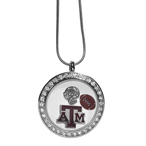 M Aggies 1 Charm - Siskiyou NCAA Texas A&M Aggies Charm Locket Necklace, 18