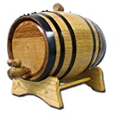 Thousand Oaks Barrel B_2L_Black 2 Liter Barrel with Black Steel Hoops
