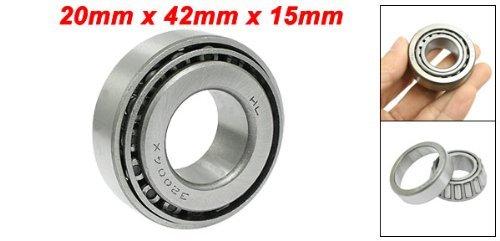 Simple rang/ée 20mm x 42mm x 15mm M/étal roulement /à rouleaux coniques 32004 ton argent