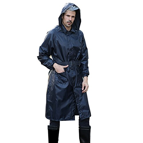 Waterproof uomo cappuccio impermeabile lungo da Lau's con Men For Giacca Jacket dWYqZ
