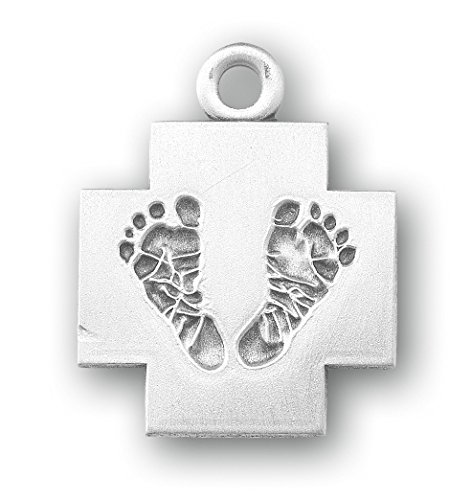 Amazon.com: Sterling Silver Cross with Feet 18