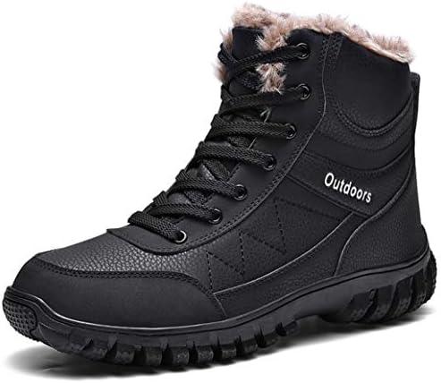 ワークブーツ ラウンドトゥ ショートブーツ レースアップ 革靴 メンズ 厚底 マーティンブーツ アウトドア エンジニアブーツ 冬靴 防水 防滑 靴 裏起毛 冬用 スノーブーツ ウォーキングシューズ 安全靴
