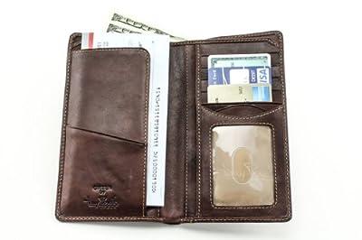 Tony Perotti Italian Leather Bifold Combination Checkbook Wallet
