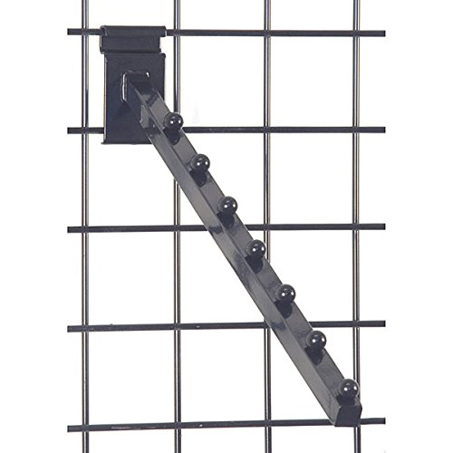 KC Store Fixtures A04520 Gridwall 7 Ball Waterfall, Black (Pack of 25)