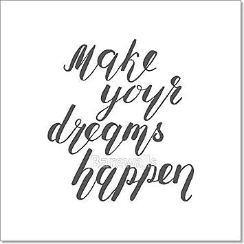 amazon barewalls make your dreams happen brush lettering 20 X 20 Bags image unavailable