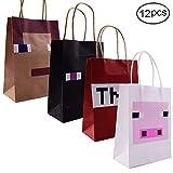 JOYET Pixel Miner Gaming Paper Bags 15 Pack For