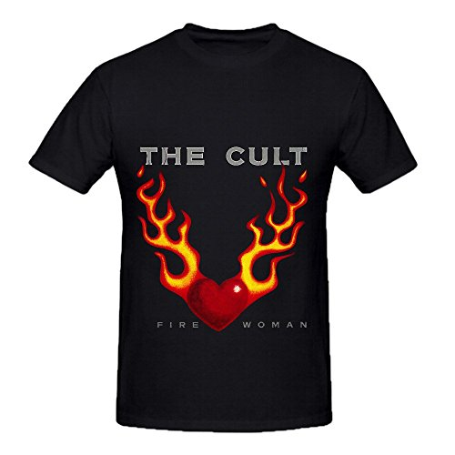 The Cult Fire Woman Hits Mens O Neck Diy Shirt Black