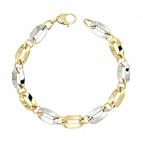Bracelet 18k 19.5cm bicolor d'or. [AA1678]