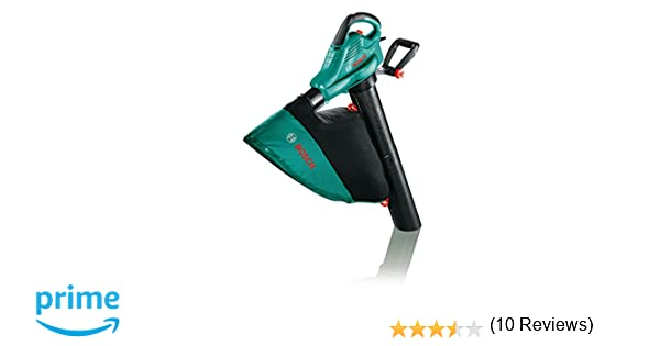 Bosch ALS 30 - Soplador y aspirador, bolsa colectora de 45 litros, correa, 3000 W, velocidad del caudal de aire: 280-300 km/h)
