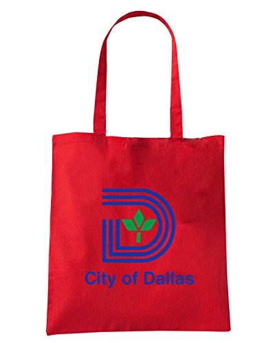 T-Shirtshock - Bolsa para la compra TM0038 City of Dallas citta Rojo