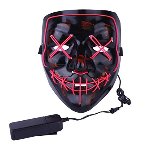 LIFOOST Halloween Scary Mask LED Light Up Party Masks Purge Funny Masks Festival Cosplay Costume Supplies Glow in Dark]()