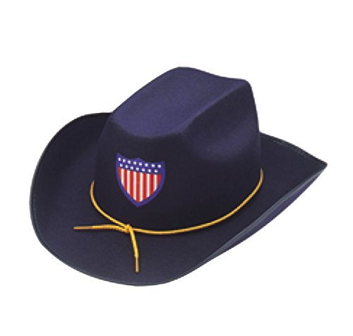 Jacobson Hat Company Men's Permalux Union Officer Hat, Navy, Adult Medium