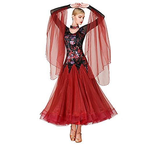 a22752333536b 社交ダンス衣装 レディース 大きい 社交ダンスドレス 発表会競技会試合ドレス ロングワンピース