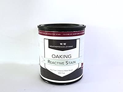 "Quart ""LIGHT OAKING"" a Reactive Wood Stain by Weatherwood Stain"