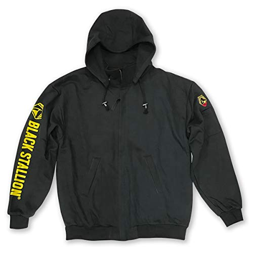 Revco/Black Stallion Truguard™ 200 Fr Cotton Black Hooded Sweatshirt Size-Med by Black Stallion (Image #1)